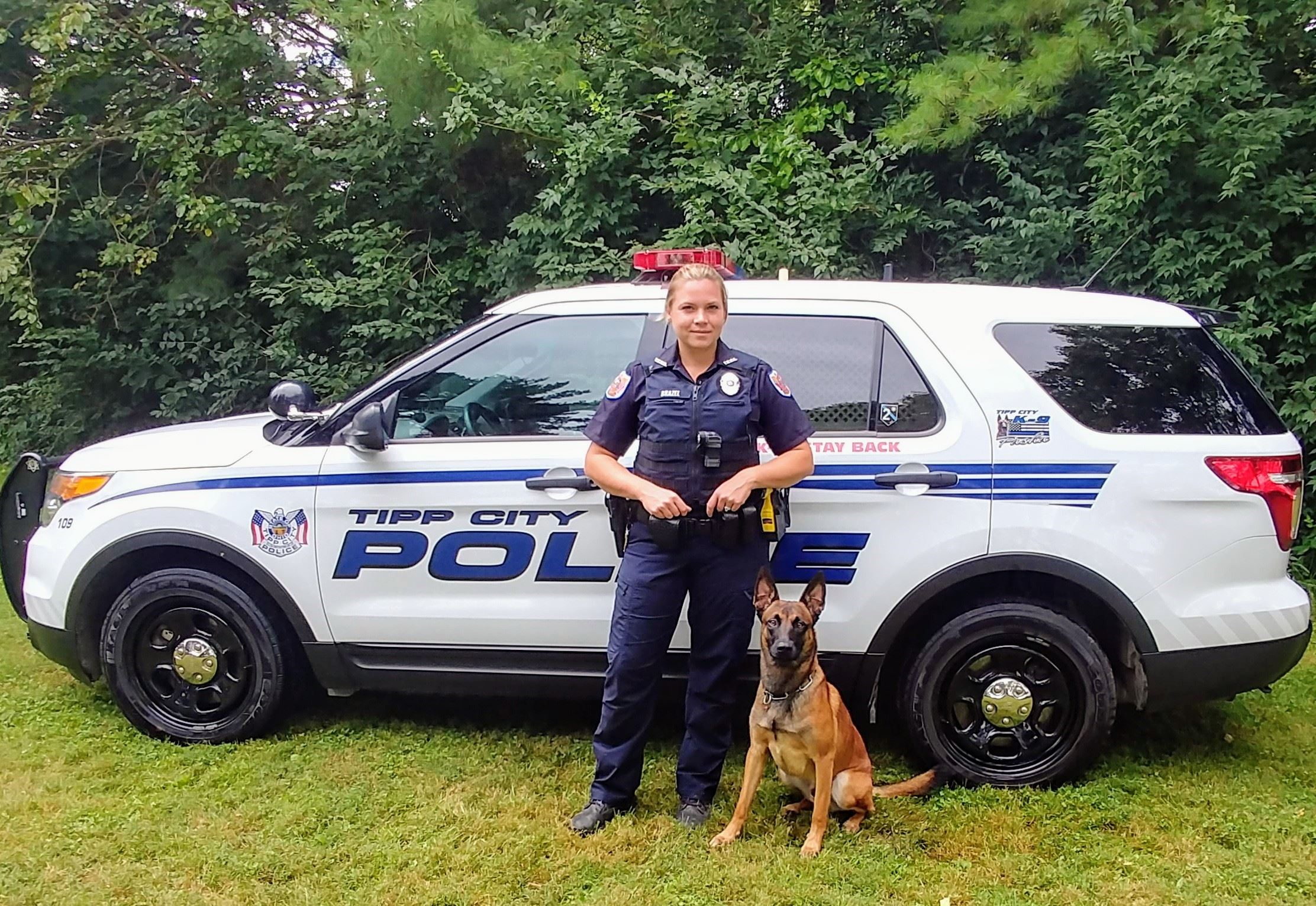 Officer Parrish Brazel and Pasha